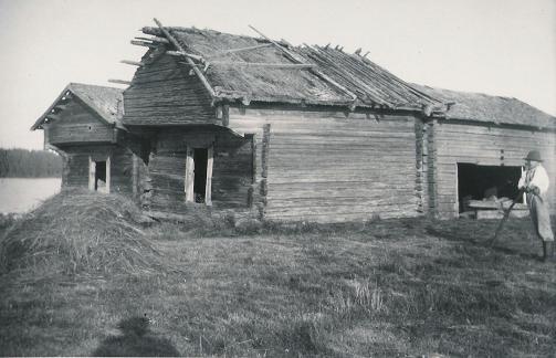 Kiekinniemen aittarakennus vuonna 1667.